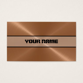 Copper Shiny Stainless Steel Metal Business Card