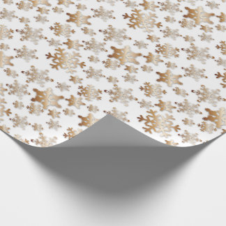 Copper Snowflakes with Drop Shadow- Wrapping Paper