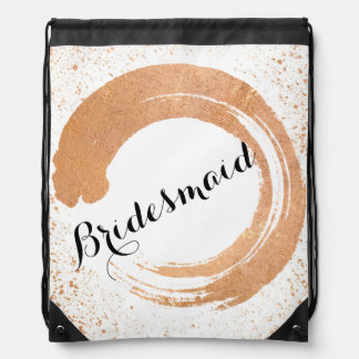 Copper Spray Wedding Collection Gifts Drawstring Bag