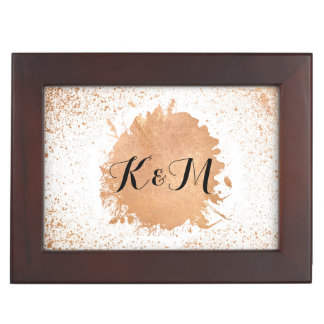 Copper Spray Wedding Collection Gifts Keepsake Box