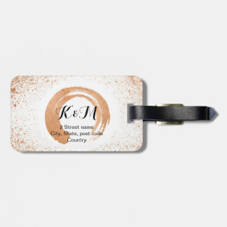 Copper Spray Wedding Collection Gifts Luggage Tag