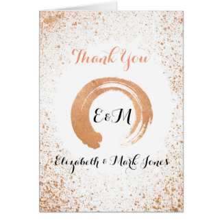 Copper Spry wedding collection Thank you Card