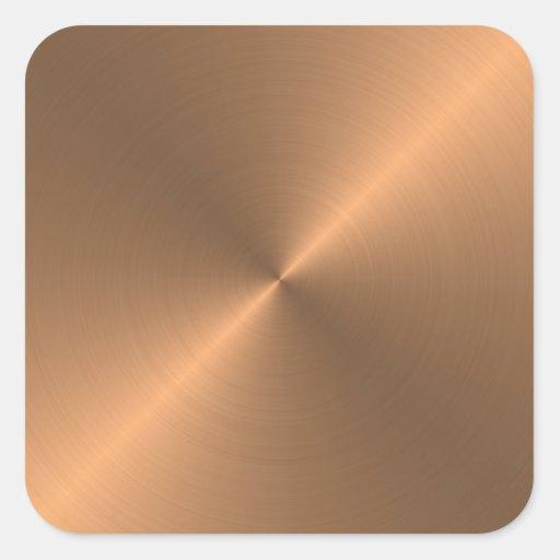 Copper Square Stickers