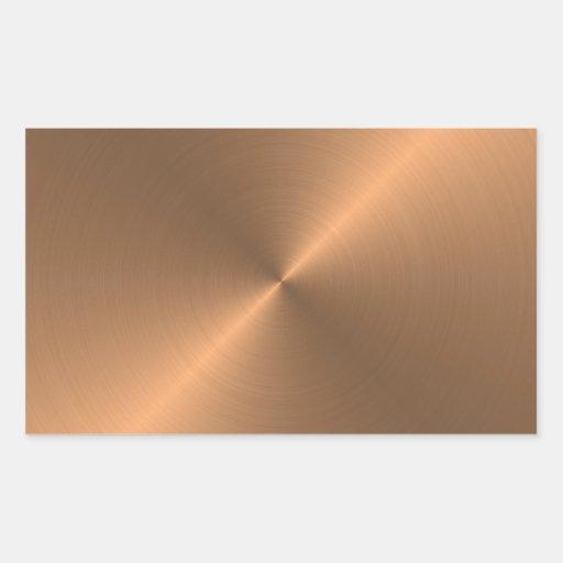 Copper Rectangular Sticker