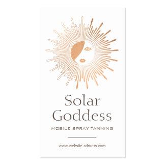 Copper Sun Goddess Girl Spray Tanning Salon Pack Of Standard Business Cards