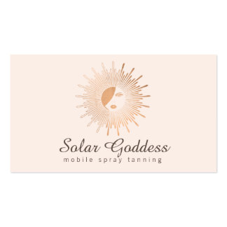 Copper Sun Goddess Girl Spray Tanning Salon Pink Pack Of Standard Business Cards