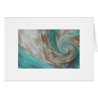 Copper Swirl Murano Detail Study Card