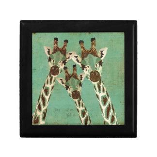 Copper & Teal  Giraffes Gift Box
