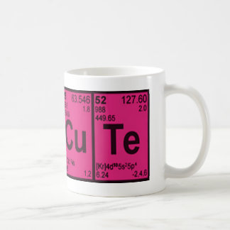"Copper Tellurium ""CuTe"" Hot Pink Girls Geek Nerdy Coffee Mug"