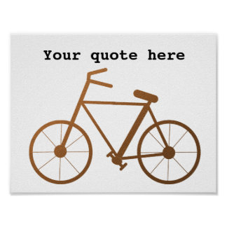 Copper Texture Bike Diy Quote Poster