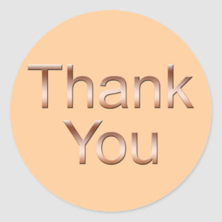 Copper Thank You Stickers