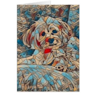 Copper the Morkie Notecard