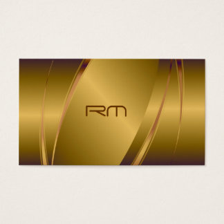 Copper Tint Metallic Look-Stainless Steel Pattern Business Card