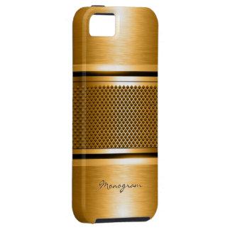 Copper Tones Metallic Look Collage-Monogram Tough iPhone 5 Case