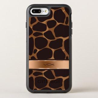 Copper Tones Stylized Leopard Pattern OtterBox Symmetry iPhone 8 Plus/7 Plus Case