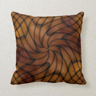 Copper Weave Swirl Pillow