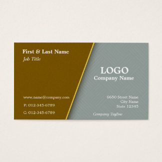 Copper with Grey Cross Hatch Business Card Design
