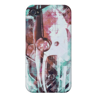 Coppol Car - cyan red iPhone 4/4S Cover