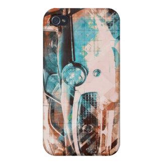 Coppol Car - orange cyan iPhone 4 Cases