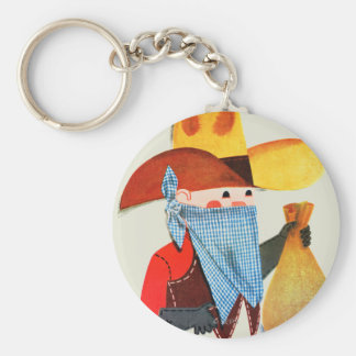 Cops and Robbers Key Ring