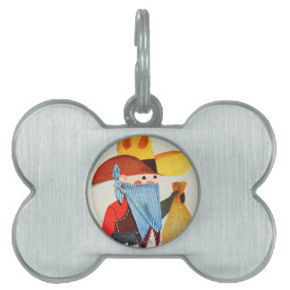 Cops and Robbers Pet Tag