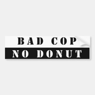 Cops & Donuts Bumper Sticker