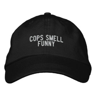 cops smell funny embroidered hat