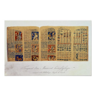 Copy of a fragment of the Dresden Codex Poster
