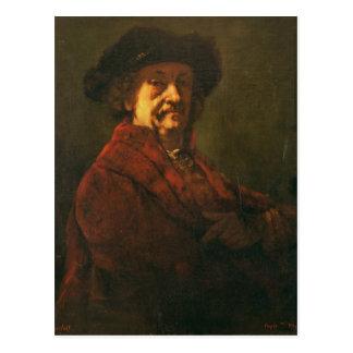 Copy of a Rembrandt Self Portrait, 1869 Postcard