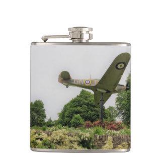 Copy of a Spitfire plane in Alexandra Gardens Hip Flask