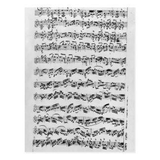 Copy of Partita in D Minor for Violin Postcards