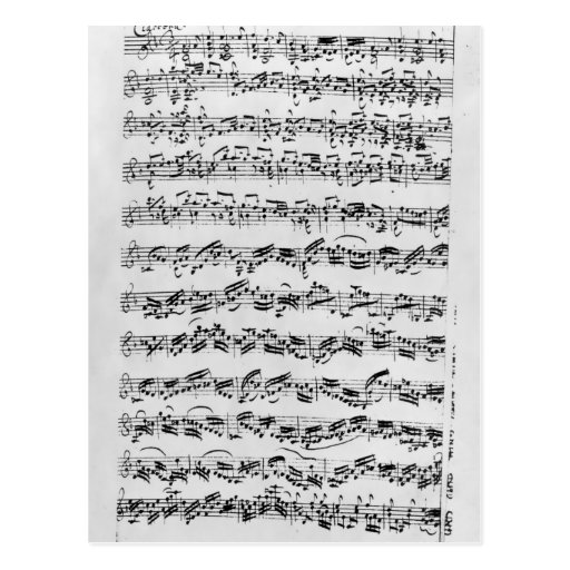 Copy of 'Partita in D Minor for Violin' Postcards