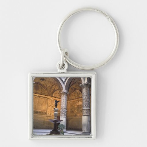 Copy of Putto with Dolphin by Andrea del Key Chain