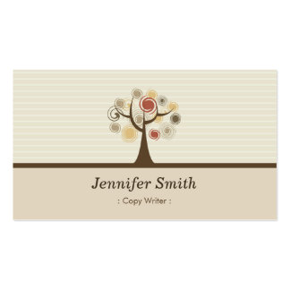 Copy Writer - Elegant Natural Theme Double-Sided Standard Business Cards (Pack Of 100)