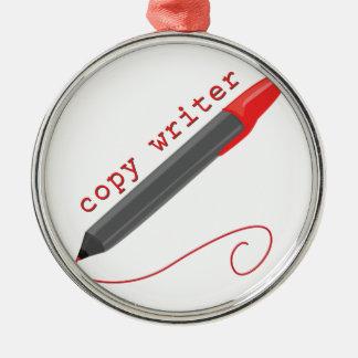Copy Writer Metal Ornament