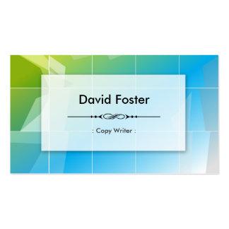 Copy Writer - Modern Elegant Simple Pack Of Standard Business Cards