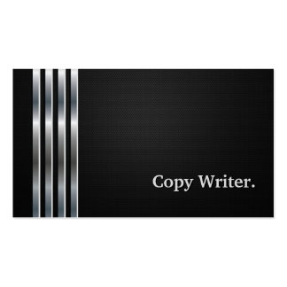 Copy Writer Professional Black Silver Pack Of Standard Business Cards