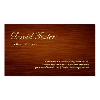 Copy Writer - Wood Grain Look Pack Of Standard Business Cards