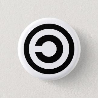 Copyleft 3 Cm Round Badge