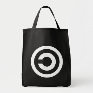 Copyleft - information wants to be free grocery tote bag