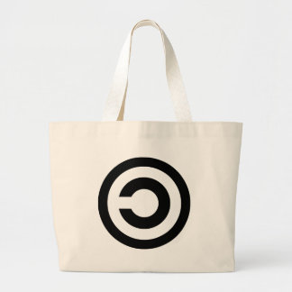 Copyleft - information wants to be free jumbo tote bag
