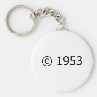 Copyright 1953 key ring