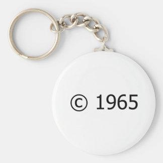 Copyright 1965 key ring