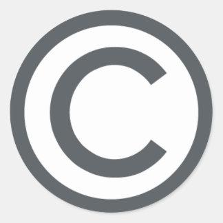 Copyright Classic Round Sticker