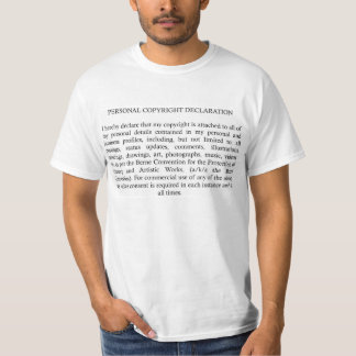 Copyright Declaration T-Shirt