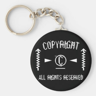 Copyright Symbol All Rights Reserved With Arrows Key Ring