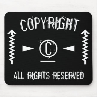 Copyright Symbol All Rights Reserved With Arrows Mouse Pad