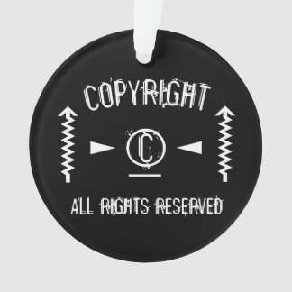 Copyright Symbol All Rights Reserved With Arrows Ornament