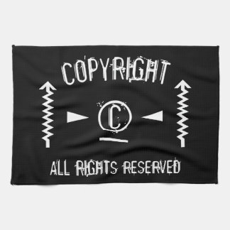 Copyright Symbol All Rights Reserved With Arrows Tea Towel