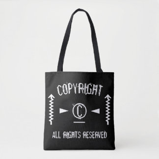 Copyright Symbol All Rights Reserved With Arrows Tote Bag
